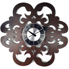 Handmade Vintage 20-inch Fleur-de-lis Petal Clock
