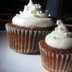 Rum Raisin Carrot Cakes with Cream Cheese Frosting & Sugar Pearls