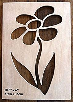 """Beautiful Large Sized Hand Crafted MDF 'Decorative Rose Design' Drawing Template / Stencil (Style 2) - Size: 12"""" x 8.5"""" Overall (30cm x 21cm)"""