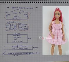 Barbie Sewing Patterns, Sewing Dolls, Doll Clothes Patterns, Clothing Patterns, Diy Ken Doll Clothes, Crochet Doll Clothes, Modelos Fashion, Barbie Furniture, Barbie House