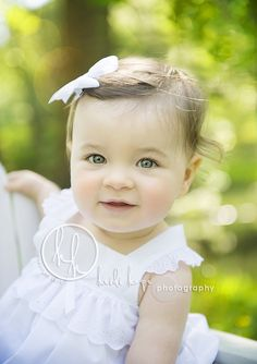 I love outdoor photos - first birthday