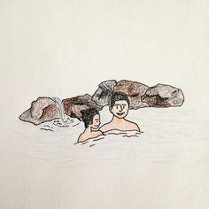 SPA . . . #onsen #ryokan #sauna #shower #spa #illustration #drawing #sketch #온천 #료칸 #사우나 #일러스트 #드로잉 #스케치