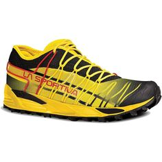 The La Sportiva Mutant is an aggressive and durable Mountain Running® shoe  with sublime cushioning and a sticky-toothed outsole for digging into any  tricky ...