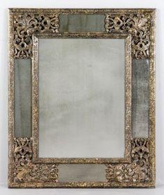 20th C. Dutch or Italian Style Pierced Frame Mirror : Lot 4069