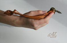 Oblique pen holder Mexican Flower  Ergonomic Pen от AZwoodUA