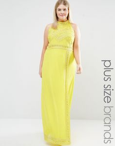 Lovedrobe+Luxe+High+Neck+Embellished+Detail+Maxi+Dress
