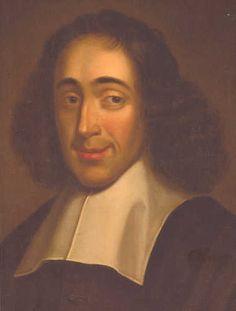 Smiling philosopher Spinoza
