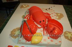 Coolest Lobster Cake Bake... This website is the Pinterest of birthday cake ideas