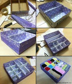Всё для дома diy storage boxes, diy storage и cardboard crafts. Diy Storage Boxes, Craft Storage, Diy And Crafts Sewing, Diy Crafts, Cardboard Box Crafts, Diy Box, Crafts For Teens, Craft Videos, Decorative Boxes