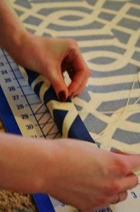 How to make Roman Shades from mini-blinds. | www.rappsodyinrooms.com