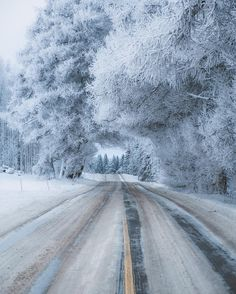 "opticcvlture: "" Winter at its best in Suonenjoki, Finland. ❄️ Photo by @lateeek """