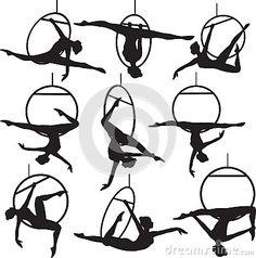 Aerial hoop acrobat by Svetlanaprikhnenko, via Dreamstime