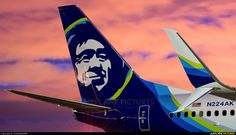 Alaska Airlines Boeing 737-990/ER N224AK at Anchorage-Ted Stevens International, May 2016. (Photo: Colombian907)