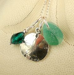 GENUINE English Sea Glass Necklace Teal