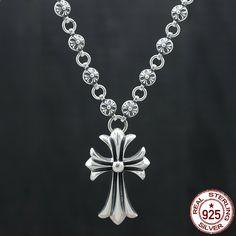 cc73f27adebc 100% S925 collar de los hombres de plata esterlina de la personalidad de la  manera
