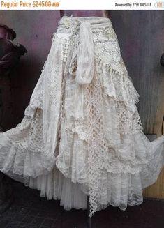 59 New Ideas Shabby Chic Boho Fashion Skirts Bohemian Skirt, Gypsy Skirt, Boho Skirts, Wrap Skirts, Gypsy Style, Bohemian Style, Boho Chic, Shabby Chic, Boho Gypsy