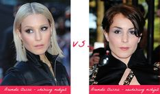 Noomi Rapace - best makeup for Dramatic Classic (left) vs. wrong makeup. Typ urody Dramatic Classic – Miss Elegancji