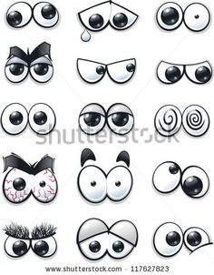 stock vector : Cartoon eyes collection