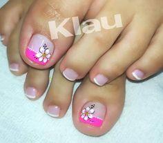 Snayder Cute Pedicure Designs, Pedicure Colors, Pedicure Nail Art, Toe Nail Designs, Toe Nail Art, Mani Pedi, Diy Nails, Cute Nails, Cute Pedicures