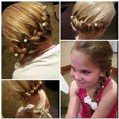 Braid bridesmaids hair Www.traceyannahair.co.uk
