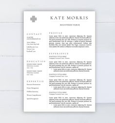 Creative Resume Template Cv Template Word Template Two Pages