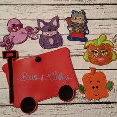Square Pumpkin Finger Puppets