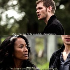"""#TheOriginals 2x06 """"Wheel Inside the Wheel"""" - Klaus and his mother Esther"""
