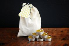 1 Dozen 100% Pure Non-Toxic Beeswax Tea Light Candles in Aluminum Cups, Unscented Tealights