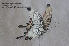 butterfly Butterfly Illustration, Butterfly Drawing, Butterfly Embroidery, Nature Illustration, Botanical Illustration, Chinese Butterfly, Korean Painting, Japanese Artwork, Iranian Art