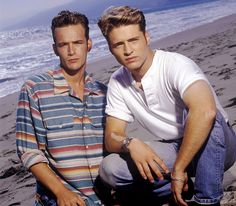 Luke Perry and Jason Priestley  The actors played polar opposites Dylan McKay and Brandon Walsh on the '90s TV series Beverly Hills, 90210. Though Perry took a two-season break from the hit Fox drama, Priestly remained on the show for nine seasons until 1998.