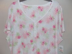 NWT 3XL /XXXL Charter sleepwear gown intimates Plus size Floral Luau 100% cotton…