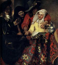 "Jan Vermeer ""У сводни"" 1656, Картинная галерея, Дрезден Dresden, Gemäldegalerie Alte Meister"
