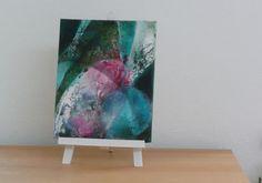 Original Acrylmalerei auf Leinwand: Bild Blue von FineArtMixedMedia
