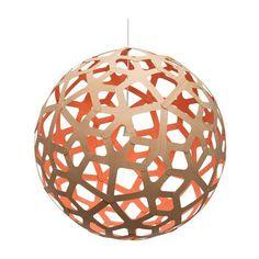 David Trubridge Painted Coral Pendant Light