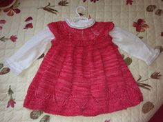 Love this as a Christmas dress - Ravelry: Project Gallery for Clara pattern by Karin Vestergaard Mathiesen