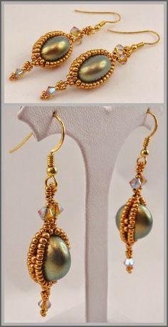 Beadtales סיפורים חרוזים: Pearl Coin Earrings