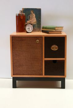 Custom Made/ Handmade Oak wood Bedside table
