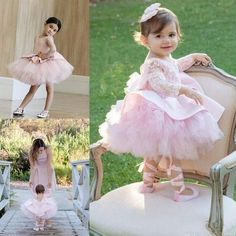 Pink Cupcake Toddler Flower Girl Dress Lace Long Sleeves Kids Girl Pageant Dress Bow Jewel Neck Little Girl Birthday Party Gowns _ {categoryName} - AliExpress Mobile Version - Girls Pageant Dresses, Gowns For Girls, Little Girl Gowns, Baby Pageant, Prom Dresses, Wedding Dresses, Toddler Flower Girl Dresses, Dresses Kids Girl, Baby Girl Party Dresses