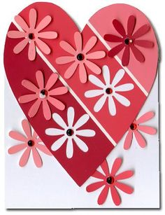 Paint chip valentine.. or Christmas card... use up some paint chips!!:
