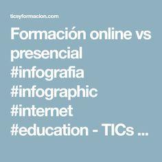 Formación online vs presencial #infografia #infographic #internet #education - TICs y Formación
