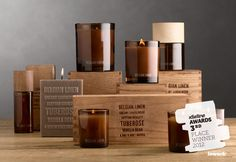The Dieline Awards. Third Place Winner: European Wax and Scent. Entrant: Restoration Hardware. Description: This collection of custom-blended wax and scents draws inspiration from the natural world and destinations abroad. Hand-poured candles, diffusers and room sprays are packaged in branded wooden crates and vintage-inspired kraft boxes.