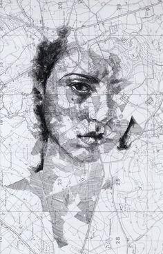 Antique map portrait © by Ed Fairburn