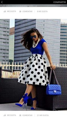My goal is to have one polka dot skirt and dress love the look it gives Modest Fashion, Fashion Dresses, 50s Dresses, Church Dresses, Church Outfits, Elegant Dresses, Party Dresses, Corporate Wear, Look Fashion