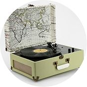 This vintage-looking record player is not only a perfect decorating accent to any room, but the sound is amazing! I love to put on my favorite record during a party or even a night in. UO X Crosley AV Room Portable USB Vinyl Record Player, $160, Urban Outfitters