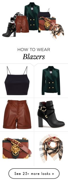 """""""Wild One"""" by lifeofdesign on Polyvore featuring Pierre Balmain, Miss Selfridge, Prada, Burberry and scarves"""