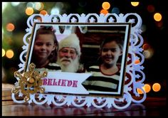 Christmas card made with Spellbinders Grandcaliber; created by Kazan Clark posted on Spellbinders blog