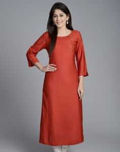 Tussar Cotton Awadh Neck Zari Long Kurta