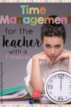 Time management is a struggle as a teacher in the classroom. Check out these tips and ideas to help you manage your time and feel less stressed! New Teachers, Elementary Teacher, School Teacher, Upper Elementary, Time Management Tips, Behavior Management, Classroom Management, Stress Management, Teacher Organization