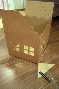 Make a playground for cats with cardboard boxes – Christmas Crafts Cardboard Box Houses, Cardboard Dollhouse, Cardboard Toys, Diy Dollhouse, Cardboard Box Crafts, Cardboard Playhouse, Paper Houses, Doll House Plans, Barbie House