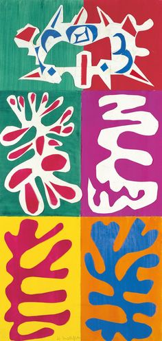 Henri Matisse  -Panel with mask -1947 -Abstract Expressionism